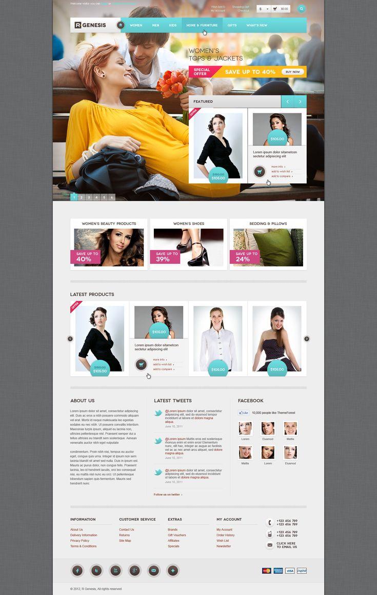 R.Gen - OpenCart Modern Store Design - ThemeForest Previewer