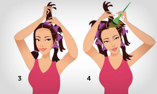 Pintar cabelos passo 3 e 4