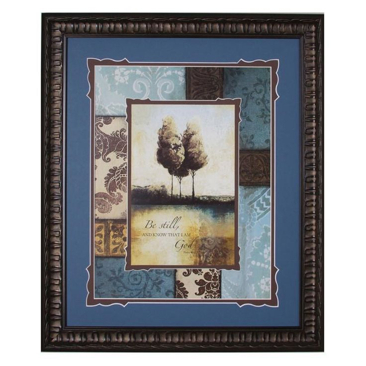 James Lawrence 2588 Be Still Framed & Double Matted Wall Art