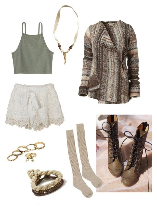 """""""Deer"""" by gardenofroses on Polyvore featuring Royal Robbins, Samantha Holmes, Ballard Designs, American Eagle Outfitters, lace, brown, Earth and knit"""