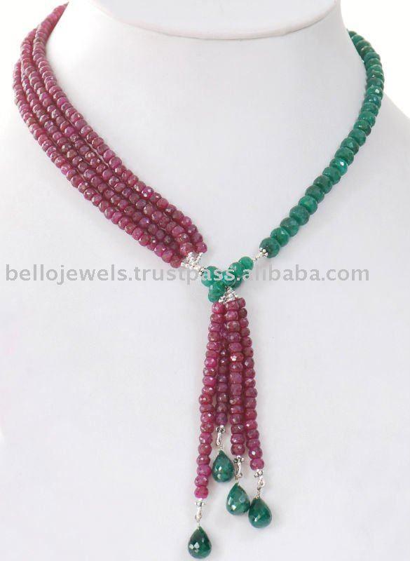 Source Natural Ruby U0026 Emerald Handmade Beaded Jewelry India   PayPal On  M.alibaba.