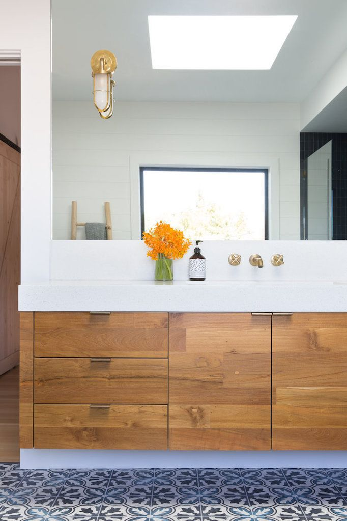 dream home a rustic midcentury modernbecki owens bathroom lighting