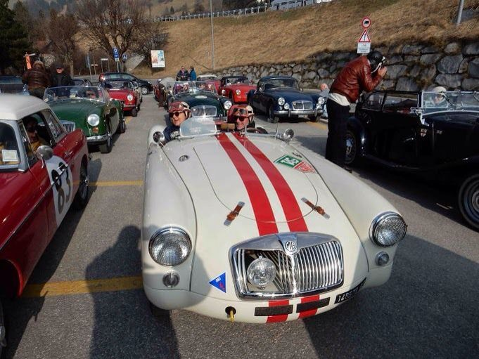 Lovely A in competition mode. MGA 1959