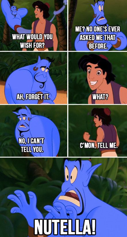 The ultimate wish. | 17 Disney Nutella Memes Guaranteed To Make You Laugh Out Loud