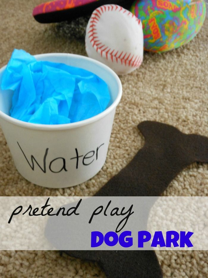 Dog park and adoption pretend play area. love this dog activity for kids!