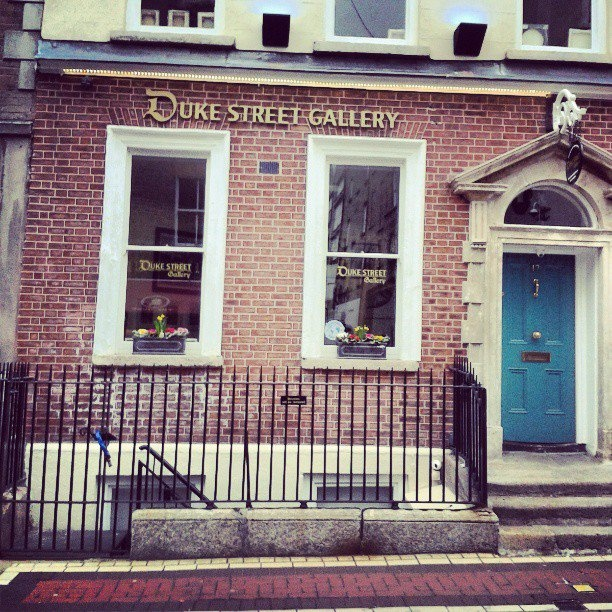 The coolest gallery of Dubliiiiiin!  #DukeStreetGallery #intern #art #Ireland