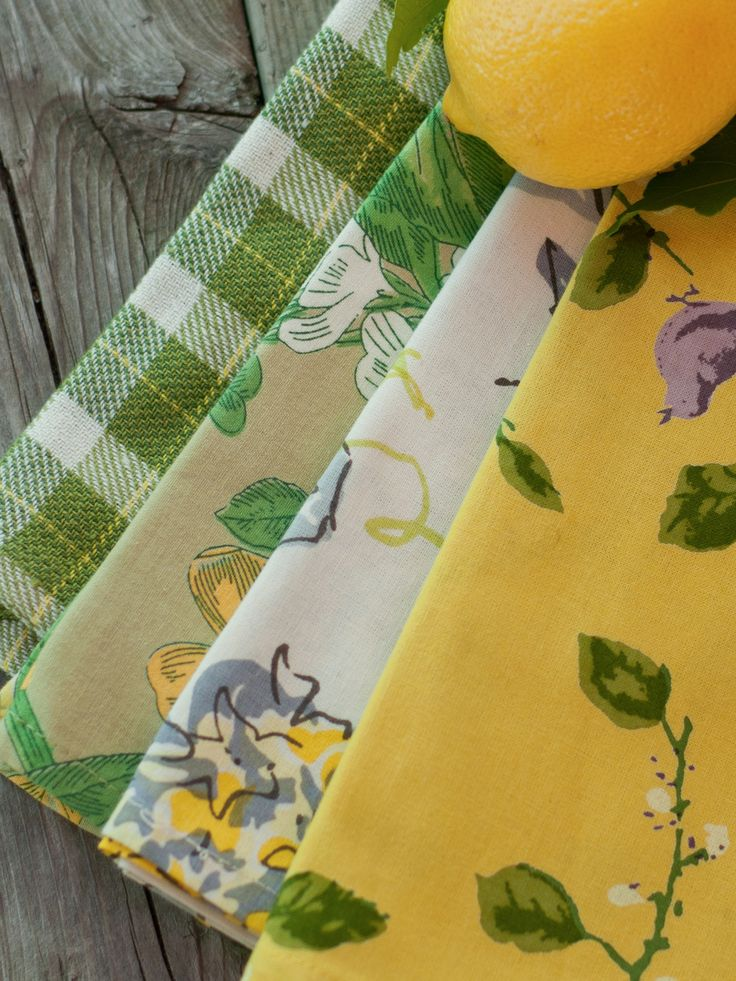 Lemon Twist Patchwork Napkin Set 4 New Arrivals Kitchen Linens Beautiful