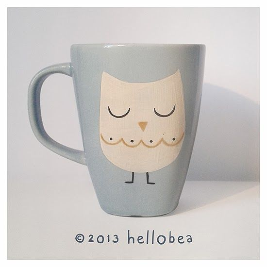 Hello bea: Owl Mug Pinned by www.myowlbarn.com