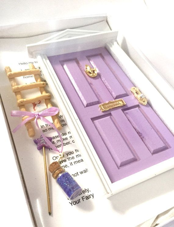 Encourage your childs imagination and their innocent wonder to bloom by welcoming this fairy door into your home.  These magical door are portals and gateways to the magical realm of fairies  Attach them to a special place and watch your childs eyes sparkle with excitement.  Once attached, a fairy will be assigned to your house as the door sends out a vacancy notice to fairy headquarters. Leave the key and when its gone the next day, you know a fairy has taken up residence. Fairies love…