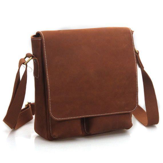 Handmade Superior Crazy Horse Leather Messenger Satchel / Ipad Bag Ipad2 Bag/leather bags P90