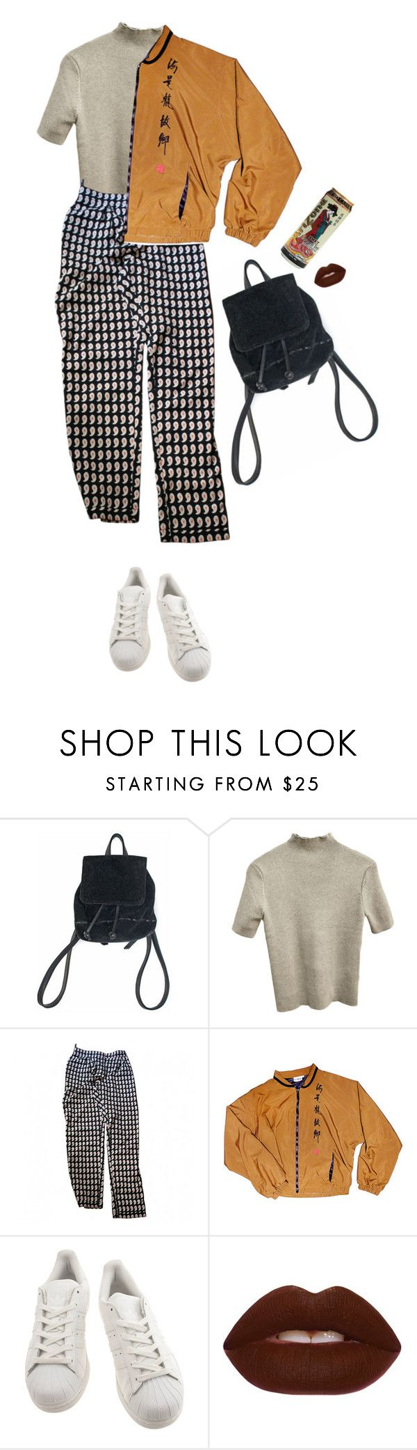 """""""yehet"""" by floralian ❤ liked on Polyvore featuring Topshop, adidas and Lime Crime"""