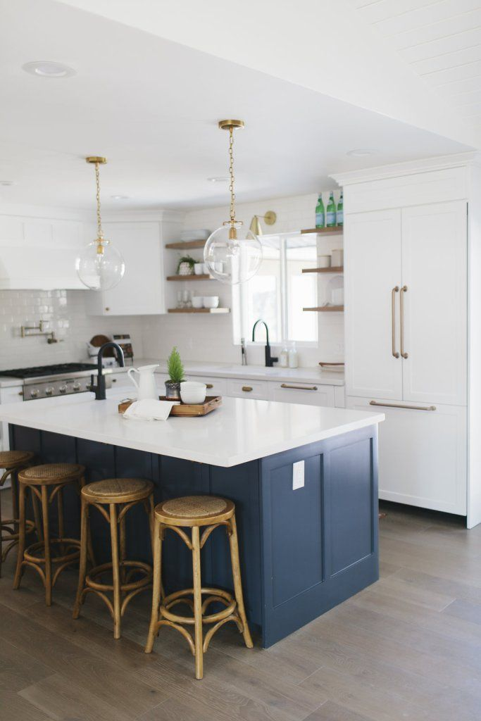 Centerville Residence Living, Dining & Kitchen - House of Jade Interiors Blog. Island is Ben Moore Hale Navy.