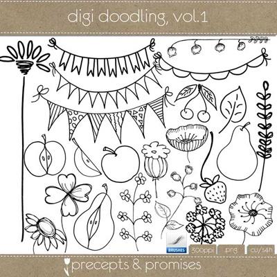 Digi doodling, Vol. 1