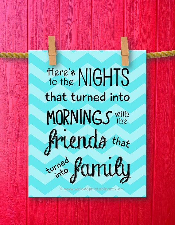 Friend Quotes On Canvas : Family quote printable best friends gift print