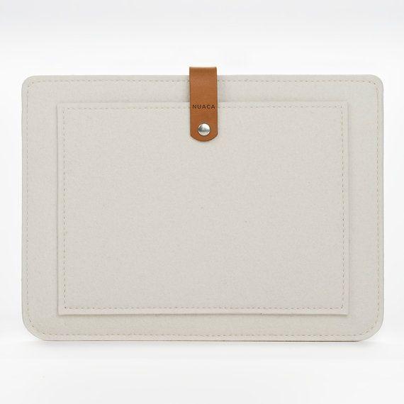 iPad Air Etui Poche  - Housse iPad Feutre Cuir - Etui Feutre Ipad Air - Pochette iPad Air - Air 2 Poche