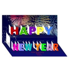 My Happy New Year 3D Card - Happy New Year 3D Greeting Card (8x4)  By Deborah on Artscow. Many more designs available. http://www.artscow.com/design-templates/3dcard-809