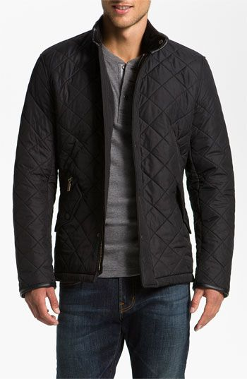 Barbour 'Powell' Quilted Jacket available at #Nordstrom black medium