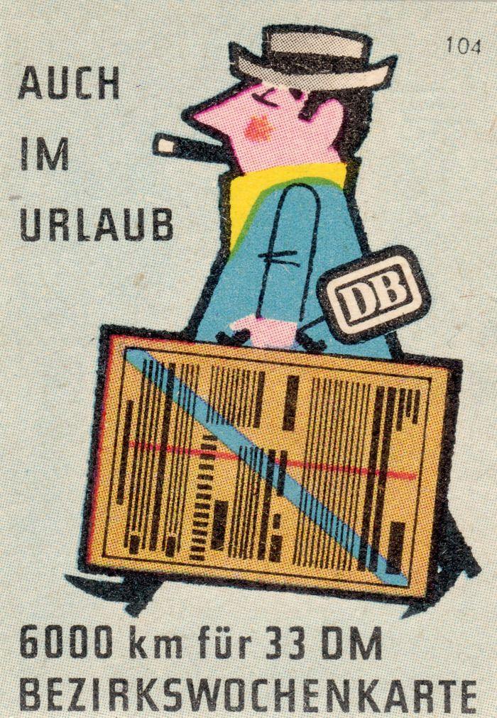 Deutsche Bundesbahn matchbox labels, c. 1957