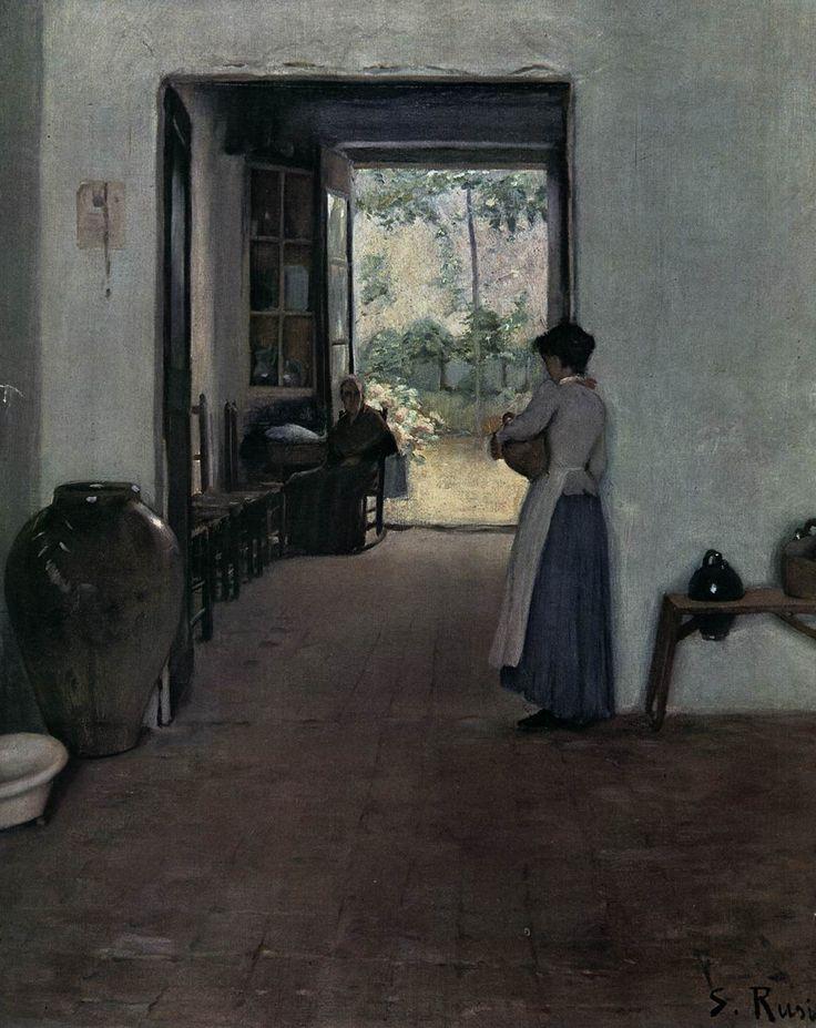 Interior with Figures 1894 Oil on canvas, 79 x 63 cm Museo de Arte Moderno, Barcelona