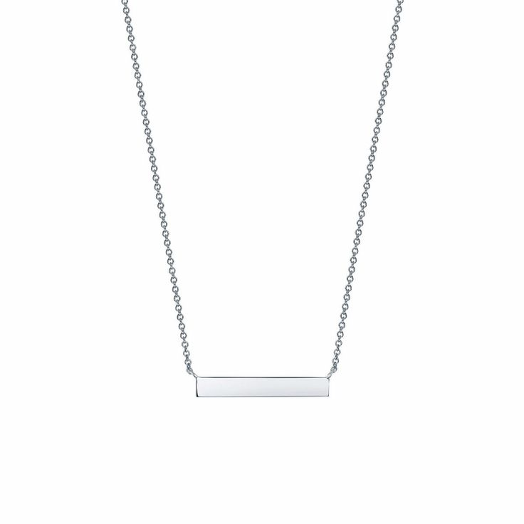 Les Plaisirs de Birks Silver Horizontal Bar Necklace. A jewelry basic, this horizontal bar necklace is made of silver.