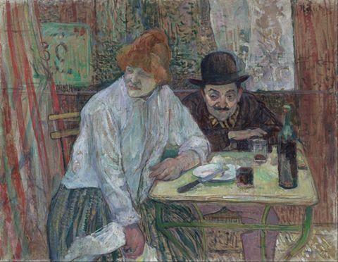 Henri de Toulouse-Lautrec, At the Café La Mie, c. 1891
