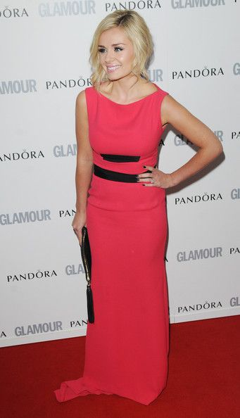 Katherine Jenkins Evening Dress - Katherine went for a bright neon hue at the Glamour Women of the Year Awards in a hot pink evening gown.