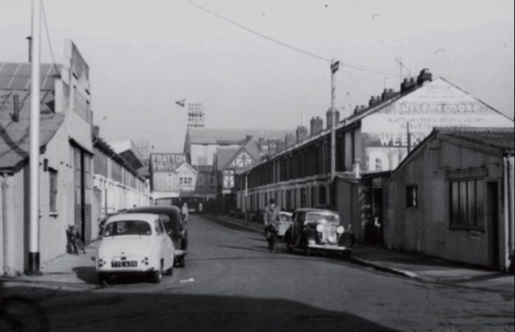 Frogmore road leading to Fratton Park Portsmouth, 1961