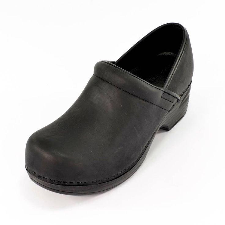 Croft Barrow Zapatos Casuales Zuecos Enfermera Trabajo Talón Invierno Negro
