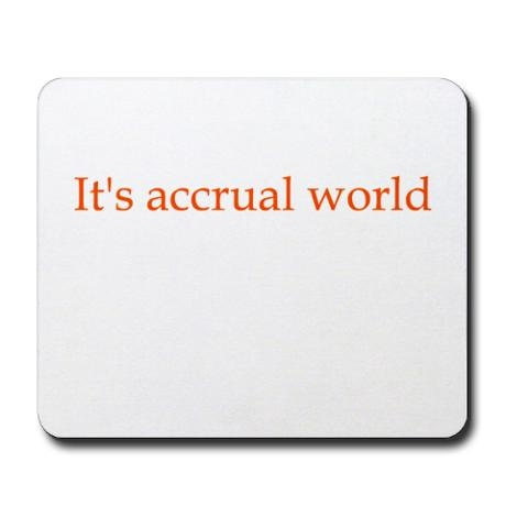 Accrual joke - I must be a true accountant because this made me laugh