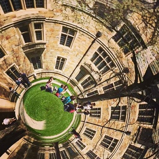Some say the law quad is like a tiny planet...