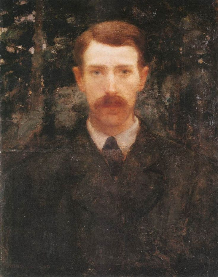 Károly Ferenczy (Hungarian 1862–1917) [Impressionism, Realism, Academicism] Self-portrait, 1893. Hungarian National Gallery, Budapest.