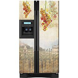 Appliance Art Tuscan Grapes Refrigerator Cover
