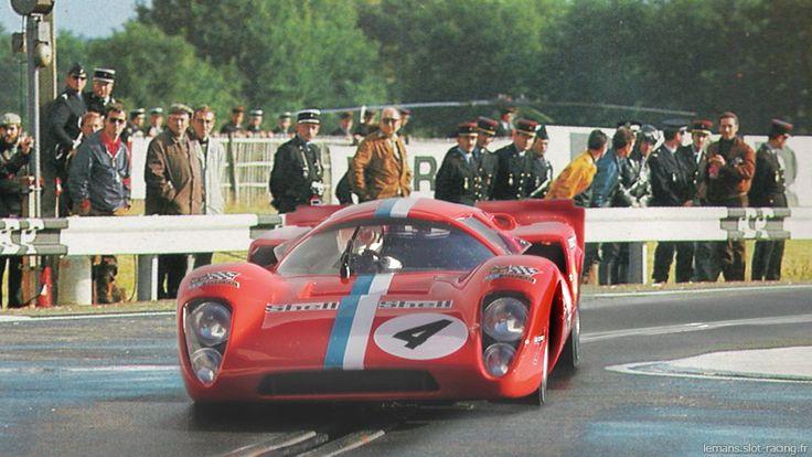 24 heures du Mans 1970 - Lola T70 #5- Pilotes : Teddy Pilette / Gustave Gosselin - Abandon
