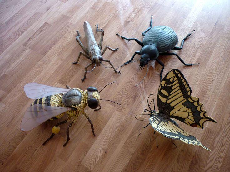 Fake insects - Riproduzione di insetti cm. 50x50x50