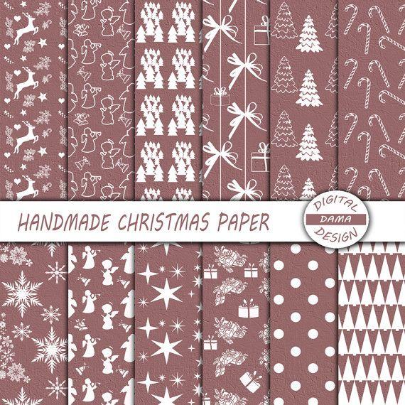 VENDITA DI NATALE!!  Carte digitali natalizie con ornamenti, alberi di Natale, renne fiocchi di neve e altro ancora!  Ottimi per realizzare