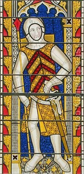 Gilbert de Clare from a stained glass window at Tewkesbury Abbey