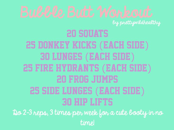 "not sure I like the name ""bubble butt workout"", but I'll try it if it keeps the rearview from going south, lol."