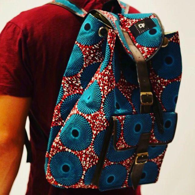 Rucksacks made in Ghana by DankwaFabric - Free shipping in the US. Shop here: ⏩www.dankwafabric.com