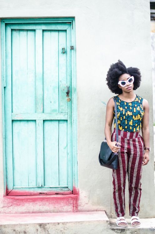 Patterned  Sunglasses: Rokit // Top: Urban Outfitters // Trousers: Koro Kimono // Slides: Birkenstock  Uzy Nwachukwu