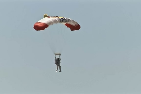 The Austrian skydiver broke the world record for highest skydive by jumping from 24 miles above the Earth.