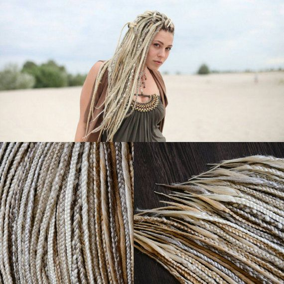 Blonde synthetic braids, full set of braids, double ended dreads, dreadlocks