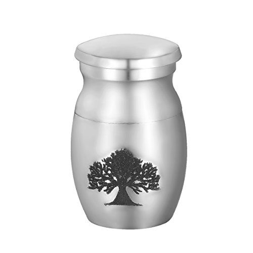 VALYRIA Pet Memorials Stainless Steel Tree of Life Tiny Small Pet Cremation Urn ** Read more details by clicking on the image.