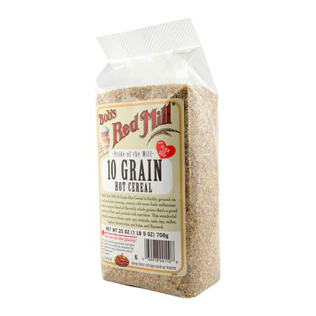 OMG even though you can literally feel each 10 grain in your mouth, just one serving will fill you up for HOURS!! PLUS it's full of fiber. I added some butter spray and a pack of slenda to it to make taste better.