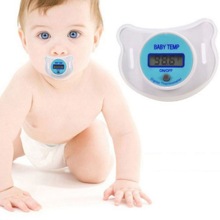 Vvcare KFT-20 LCD Baby Infant Nipple Pacifier Mouth Thermometer Portable Baby Fahrenheit Thermometer Soother Soft Baby Kids Health Fever Care