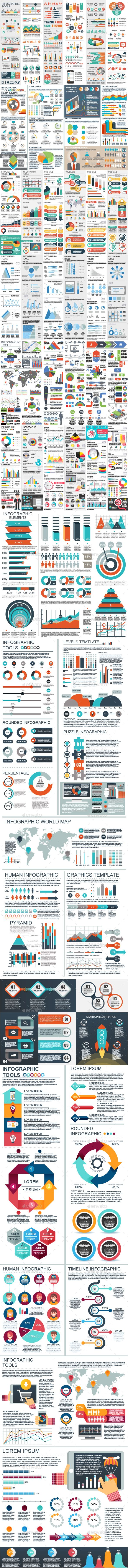 #Bundle Infographic Elements - #Infographics Download here: https://graphicriver.net/item/bundle-infographic-elements/20302511?ref=alena994