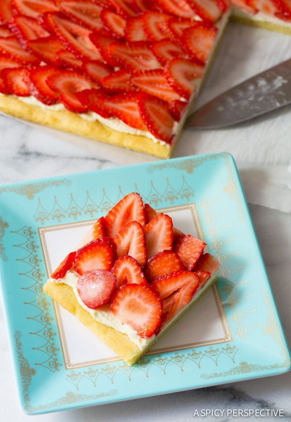 Simple Strawberry Pizza - on ASpicyPerspective.com