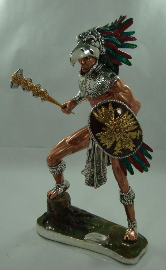 Guerrero águila (Electroformado) en cobre plata y oro ...