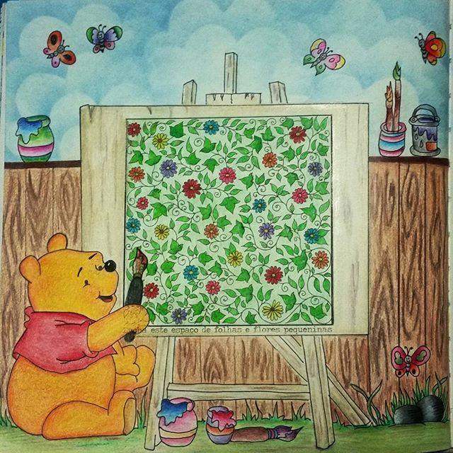 Pintando O Sete Com Essa Fofura Do Ursinho Pooh Feito Por Rozanaccunha ColouringColoring BooksJohanna Basford Secret GardenSecret