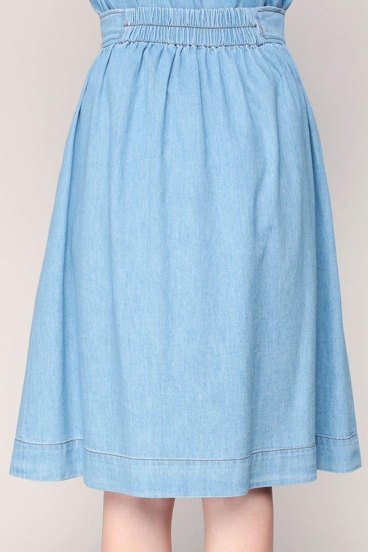 Falda a media pierna - pej18e535 - Azul / Marina de guerra zoom