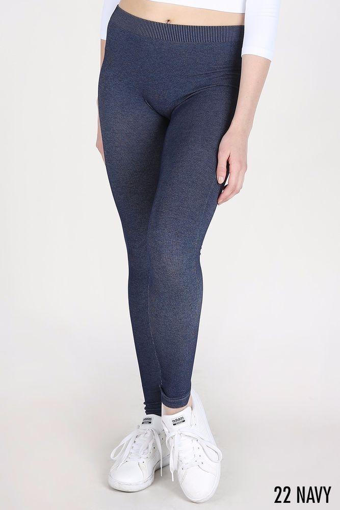 da2f4181554c3 NEW Nikibiki Blue Two Tone Leggings One Size Fits All #fashion #clothing  #shoes #accessories #womensclothing #leggings (ebay link)